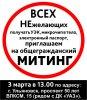 Митинг в Ульяновске против УЭК